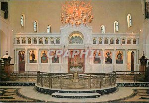 Postcard Modern Patras The marble carved iconostasis of the new church of Sai...