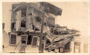 Long Beach California Anaheim Earthquake Damage Real Photo Antique PC K24823
