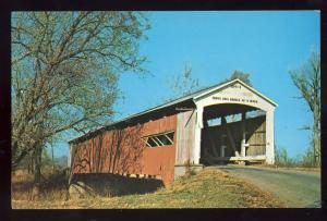 Rockville, Indiana/IN Postcard, Neet Bridge, Parke County