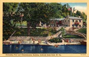 West Virginia Babcock State Park Swimming Pool and Administration Building Cu...