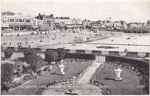 SOUTHEND-ON-SEA, Essex, England, PU-1947; The Boating Lake And Marine Parade