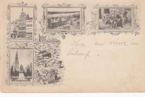 ANVERS(ANTWERP) , Belgium , 1890s ; 4-view postcard