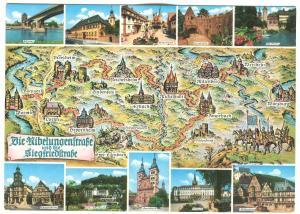Germany, Nibelungenstrasse und Siegfriedstrasse, unused Postcard
