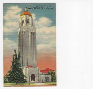 Nicely Colored Linen PC Hoover Library,  Stanford Univ,  Palo Alto CA - Unused