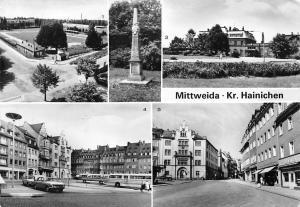Mittweida Kr Hainichen, Blick in die Rochlitzer Bahnhof Markt Sportstadion