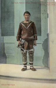 ALASKA, PU-1910; Joe Cook, Eskimo Village