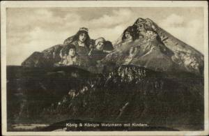 Swiss Mountains King & Queen Metamorphic Real Photo Postcard
