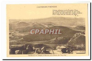 L & # 39auvergne poetic Old Postcard The ruins of the temple of Mercury and t...