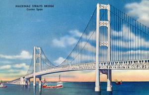 MI - Mackinac Straits Bridge, Center Span