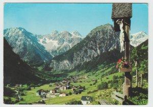 Austria Brand Vorarlberg Ortsblick vom Wegekreuz Ruhebank 1968 Postcard