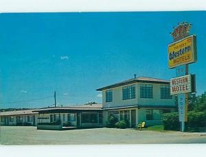 Unused Pre-1980 WESTERN MOTEL Sonora Texas TX u2972