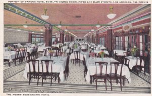 LOS ANGELES, California, 1900-1910's; Portion Of Famous Hotel Rosslyn Dining ...