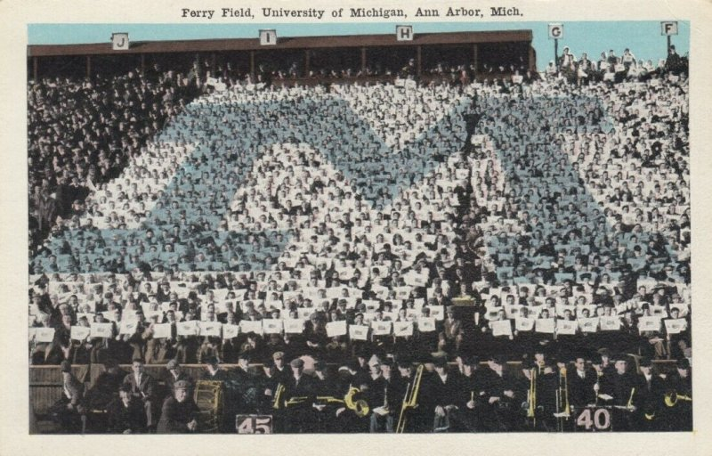 ANN ARBOR, Michigan, 1900-10s; Ferry Field, University of Michigan