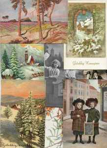 New Year, People Flowers Greetings and More Themes Postcard Lot of 50 01.12