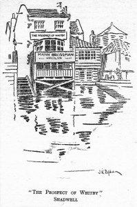 Fine Art Quality Postcard, Prospect of Whitby, Shadwell, London IA3