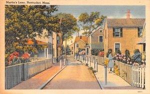 Martin's Lane in Nantucket, Massachusetts
