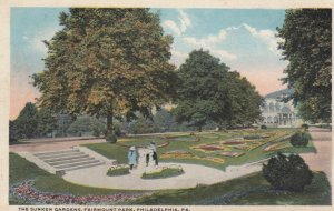 PHILADELPHIA, Pennsylvania, 1910s; The Sunken Gardens, Fairmount Park