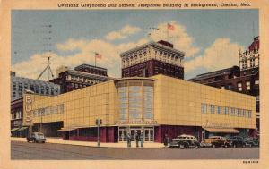 Omaha Nebraska Greyhound Bus Station Antique Postcard J44561