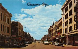 Cheyenne Wyoming~16th Street~Cowboy Corral~The Wrangler~1950s Station Wagon~Cars