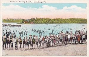 Scene At Bathing Beach Harrisburg Pennsylvania