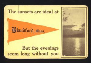 Blandford, MA/Mass/Massachusetts Postcard, Sunsets Are Ideal, 1913!
