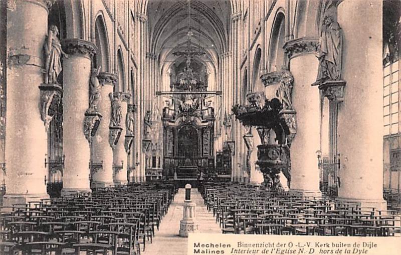 Malines Belgium, Belgique, Belgie, Belgien Interieur de l\'Eglise ...