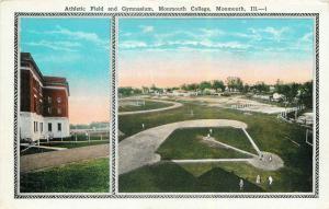 Fitnessstudio & Baseball Feld,Monmouth College,Il Postkarte Spieler auf dem Feld
