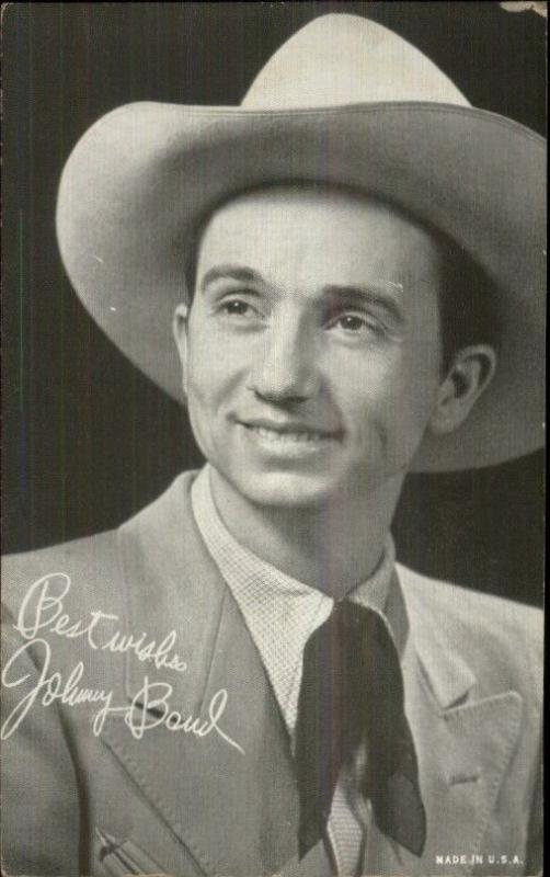 Cowboy Western Singer - Arcade Exhibit Card - Johnny Bond