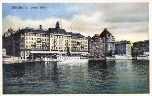 Grand Hotel, Stockholm, Sweden, Early Postcard