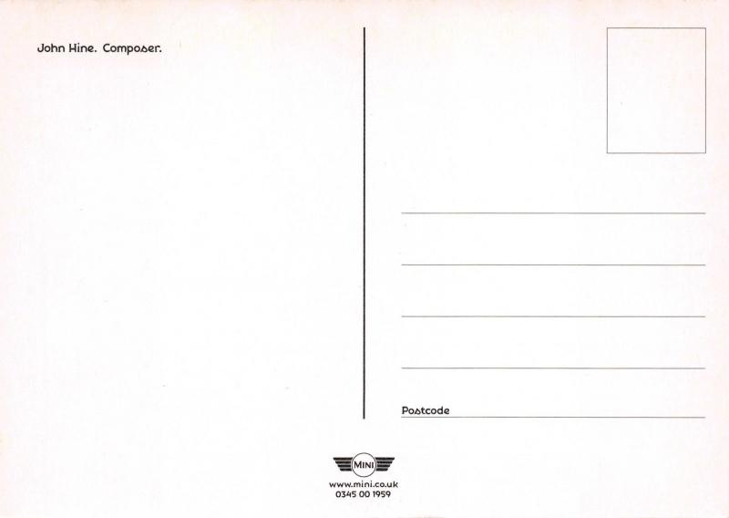 Official Postcard BMW Mini - John Hine, Composer, UK Promotional Advert Card G18
