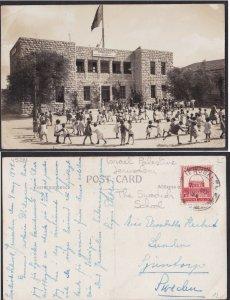 Palestine Jerusalem PC 1934 Swedish School SVENSKA SKOLAN - British Mandate