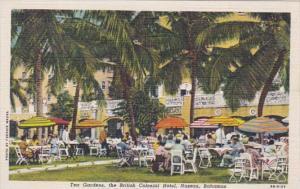 Bahamas Nassau The British Colonial Hotel Tea Garden Curteich