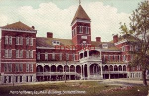 MARSHALLTOWN, IA., MAIN BUILDING, SOLDIERS HOME