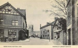 Vintage Reproduction Postcard, c1909 Derby Road, Huyton, Knowsley 22S