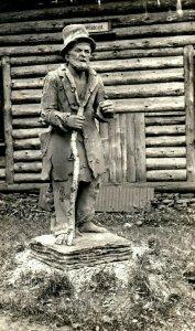 C.1910 AZO Statue Wildcat Mayor of Battle Creek, MI Postcard P50