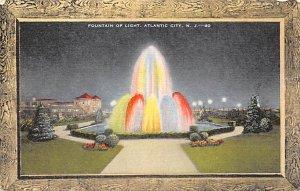 Fountain of Light Atlantic City, N.J., USA Postcard Unused