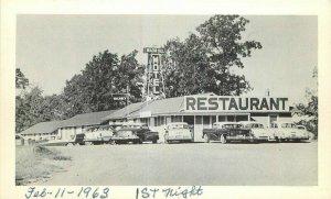 Autos Beacon Hill Motel Restaurant 1960s Postcard Newburg Missouri National 7110