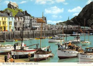 B102488 the harbour and lantern hill ilfracombe devon ship bateaux    uk
