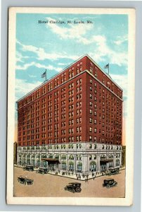 St Louis MO-Missouri, Hotel Claridge, Vintage Postcard