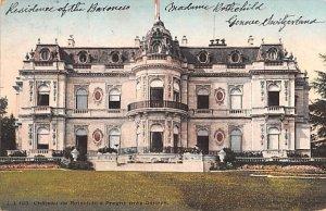 Chateau de Rotschild a Pregny pres Geneve Switzerland 1908