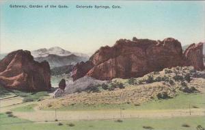 Colorado Colorado Springs Gateway Garden Of The Gods Albertype