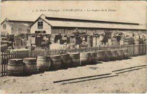 CPA AK CASABLANCA - Les hangars de la Douane MAROC (669299)