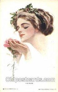Series No. 181 The Rose Artist Signed Harrison Fisher 1914 light corner wear,...