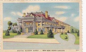 North Carolina New Bern Hotel Queen Anne 1945 Curteich sk3904