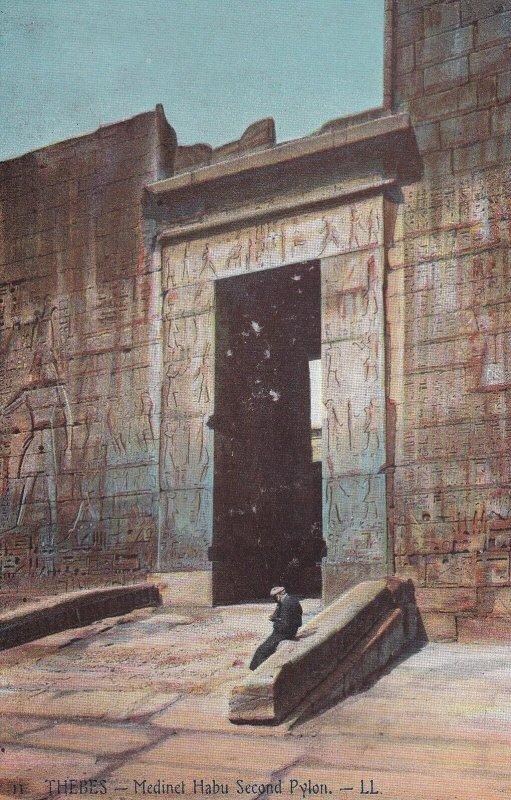 THEBES, Egypt, 1900-1910s; Madinet Habu Second Pylon
