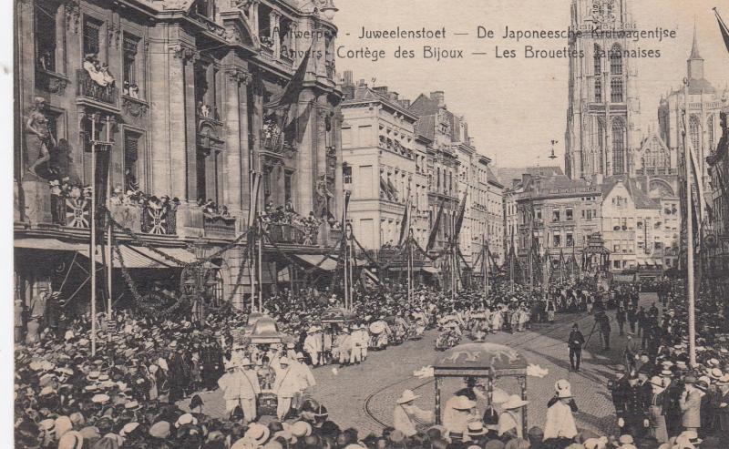 Antwerpen , Belgium , 00-10s ; Juweelenstoet , Da Japoneesche Krulwagentjse