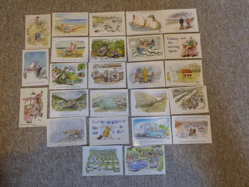 bu0066 - 25 Postcards by comic artist Rupert Besley - All Shown