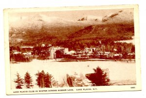 NY - Lake Placid. Lake Placid Club, Mirror Lake in Winter