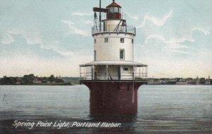 PORTLAND , Maine , 1901-07 ; Spring Point Lighthouse , Closeup