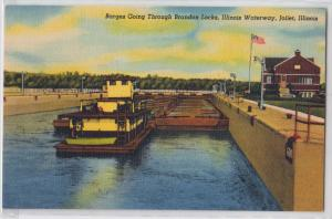 Barge, Brandon Locks, Joliet IL